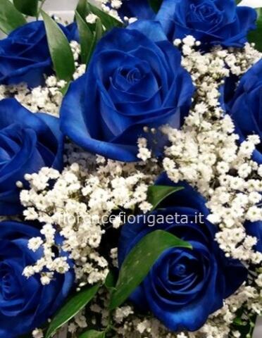 Mazzo Di Rose Blu Fiorista Consegna Fiori E Piante A